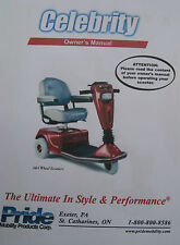 Pride Mobility CELEBRITY Scooter User Owner Manual Guide