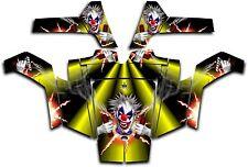 Polaris RZR 800 UTV Wrap Graphics Decal Kit 2007 2010 Pyro The Clown Yellow