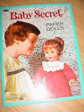 Vtg Toy 1960s-60s-Paper Dolls-Cut Outs-1966 Mattel Whitman Baby Secret