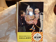 "Vintage Tour Guide   ""HOLLAND ROYAL DUTCH AIRLINES"" Booklet  1960's"