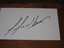 Louis Leblanc Autographed 3X5 Index Card-Montreal Canadiens
