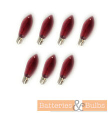 3w 34v E10 Red Christmas Candle Arch Bulb Spare Replacement | Pack of 7
