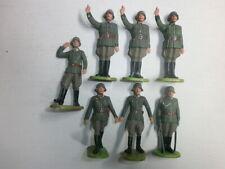 Konvolut 7 alte Elastolin Kunststoff Soldaten Parade Wehrmacht zu 7.5cm