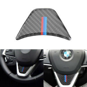 Carbon Fiber Car Steering Wheel Cover Trim Decor For BMW F48 X1 F45 F46 2 Tourer