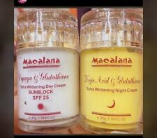 Macalana Day And Night Strong Whitening Fast Action Face Cream Best Ever 2pc Set