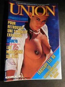 vintage Magazine adulte UNION n ° 170 aout 1986 VOIR SOMMAIRE