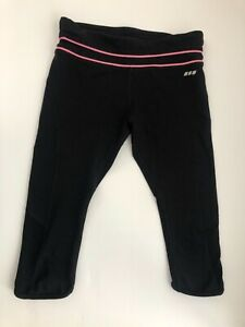 Lorna Jane Y2K Size XS Black 3/4 Tights Fitness Yoga Exercise Pants Stretch