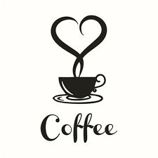 Coffee Cup Decals Removable Vinyl Wall Sticker DIY Kitchen Home Decor Paper H-