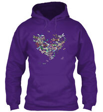 Dragon Fly Heart Gildan Hoodie Sweatshirt