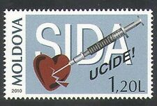 Moldova2010 The 30th Anniversary of the Struggle Against AIDS 1 stamp