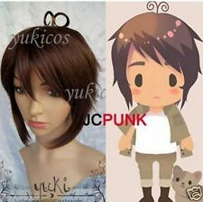 New cosplay Short Axis Powers Hetalia APH Greece Heracles Karpusi Wig Hair