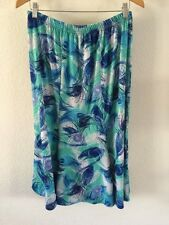 Pagopago Stretchy Polyester Mix Skirt Size 14-16 Blue/Green Mix <R6609