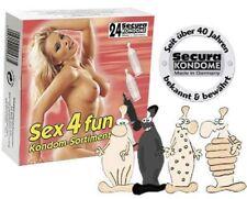 24 préservatifs Assortiment 4 variétés Secura