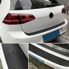 Rear Bumper Carbon Fiber Sticker Kit Guard Sill Plate Trunk Protector Trim Cover