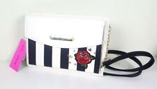 NWT BETSEY JOHNSON WOMEN  ROSE BUD SAFARI ENAMEL CROSS BODY XBODY BAG PURSE