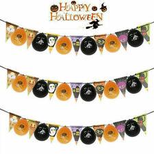Halloween Pumpkin Spider Garland Hanging Paper Balloons Festive Home Party Decor