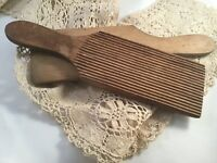 ANTIQUE VINTAGE ORIGINAL OLD BUTTER PADDLES Wood Wooden Paddle Buttermilk Pats