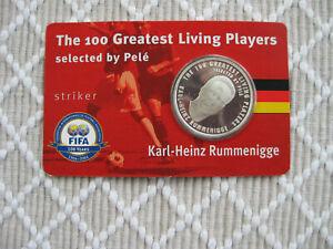 Silber Gedenkmünze   THE 100 GREATEST LIVING PLAYERS Karl-Heinz Rummenigge