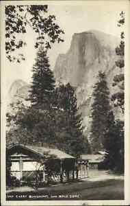 Yosemite Camp Curry Bungalows & Half Dome c1920s-30s Real Photo Postcard
