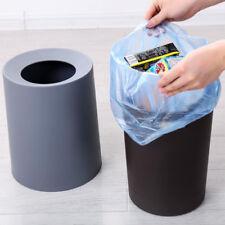Plastic Trash Can Wastebasket Garbage Container Bin Bathroom Home 8L gray