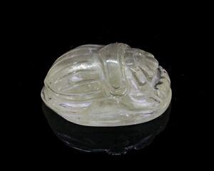 Libyan Desert Glass Meteorite Impactite Scarab carving Gem quality LDG 30mm 50ct