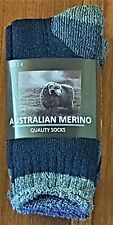 6 PAIRS LADIES SZ 2-8  DENIM  MERINO WOOL THERMAL CUSHION FOOT WORK SOCKS