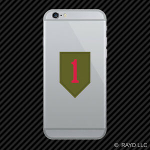1st Infantry Division Cell Phone Sticker Mobile Die Cut The Big Red One shoulder