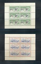 New Zealand #B52a-53a  (1957 Sports Health sheets wmk upright) VFMNH CV $29