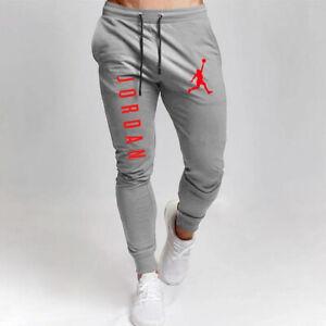 Men Jordan Jogger Pants Sweatpants Fitness Bodybuilding Gyms Runners Trousers