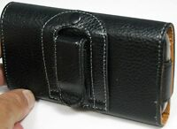 PU Leather cell phone Belt Case Pouch with Clip Holster Flip Cover fits galaxy