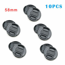 10X 58mm Center Pinch Snap-on Front Lens Cap hood Cover for Nikon Canon Sony Top