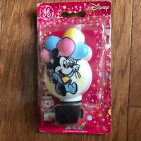 Vintage 1988 Disney Baby Mickey Mouse Night Light Cover Balloons Tested/Works