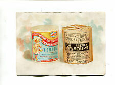 Vintage Trade Card FRANCO AMERICAN FOOD French Soups Tomato & Pearl Tapioca