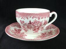 """Vintage Pink """"Asiatic Pheasants"""" Parliament/Premiere England Flat Cup & Saucer"""