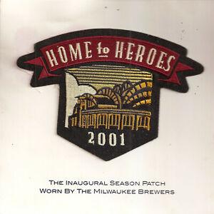 Milwaukee Brewers 2001 Season Patch