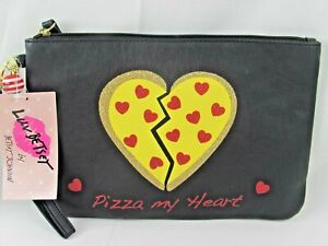 """LUV Betsey By Betsey Johnson """" Pizza My Heart """" Carry-All Cosmetic Clutch"""