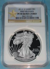 2014-W PROOF SILVER EAGLE NGC PF70 ULTRA CAMEO FIRST RELEASES SPECIAL STAR LABEL