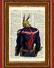 All Might Dictionary Art Print My Hero Academia Anime Picture