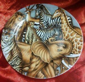 "Sakura Ultra Porcelain LA MENAGERIE 7 5/8"" Salad Plate 1996 Wild Animals"