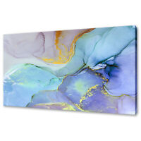COLOURFUL INK PAINT ABSTRACT DESIGN MODERN CANVAS PRINT WALL ART PICTURE