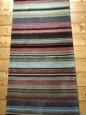 john lewis runner rug 240cm x 70cm striped nearly new