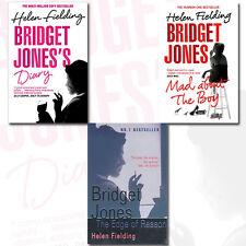 Helen Fielding Bridget Jones Collection 3 Books Set, (Mad About the Boy, The Edg