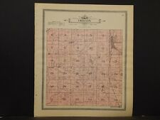 Wisconsin Dane County Map, 1911, Township of Perry or Oregon, Double Sided Z5#41