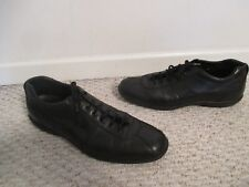 PRADA Mens Shoes Black Leather Sneakers Size 9 & 10 Italy 4E 1515