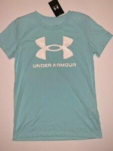 NWT Under Armour Sportsyle Women's XS Graphic Blue Short Sleeve T-shirt