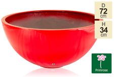 Primrose Garden Patio Planter Low Bowl Fibreglass Red High Gloss 72cm Multi use