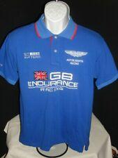 HACHETT LONDON ASTON MARTIN RACING 24 HR TEAM BLUE 100% COTTON S/S POLO SZ. M
