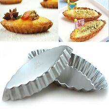 12pcs Reusable Novelty Boat Egg Tart Mould Cupcake Jelly Liner Baking Tins Pan