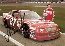 1993 JOE NEMECHEK signed NASCAR PHOTO CARD POSTCARD DENTYNE CHEVY LUMINA wC hero