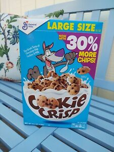 NEW GENERAL MILLS FAMILY SIZE COOKIE CRISP CEREAL 19.8 OZ BOX CHOCOLATE CHIP